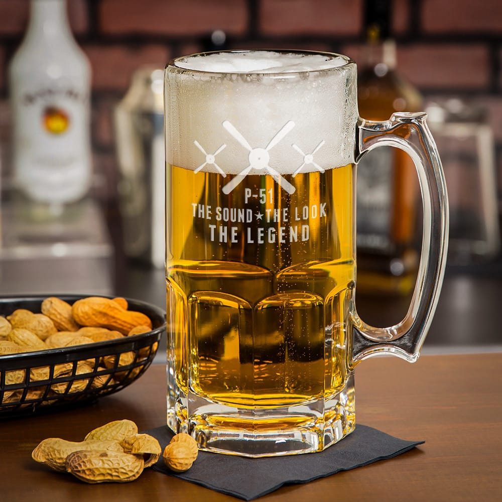 P-51 Mustang Heavyweight Beer Mug Mustang Legend