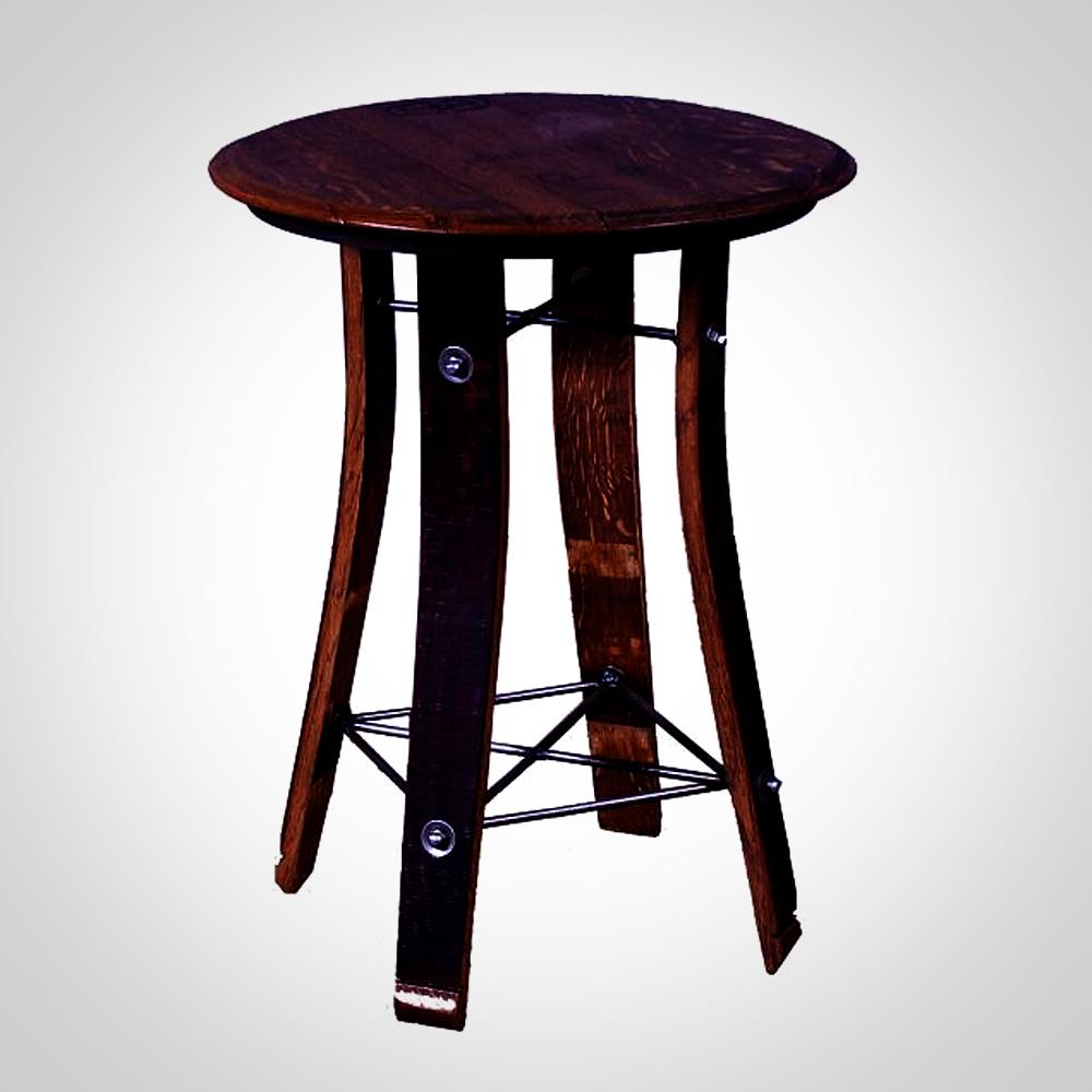 28 wine barrel top side table show off the store for 1 2 wine barrel table