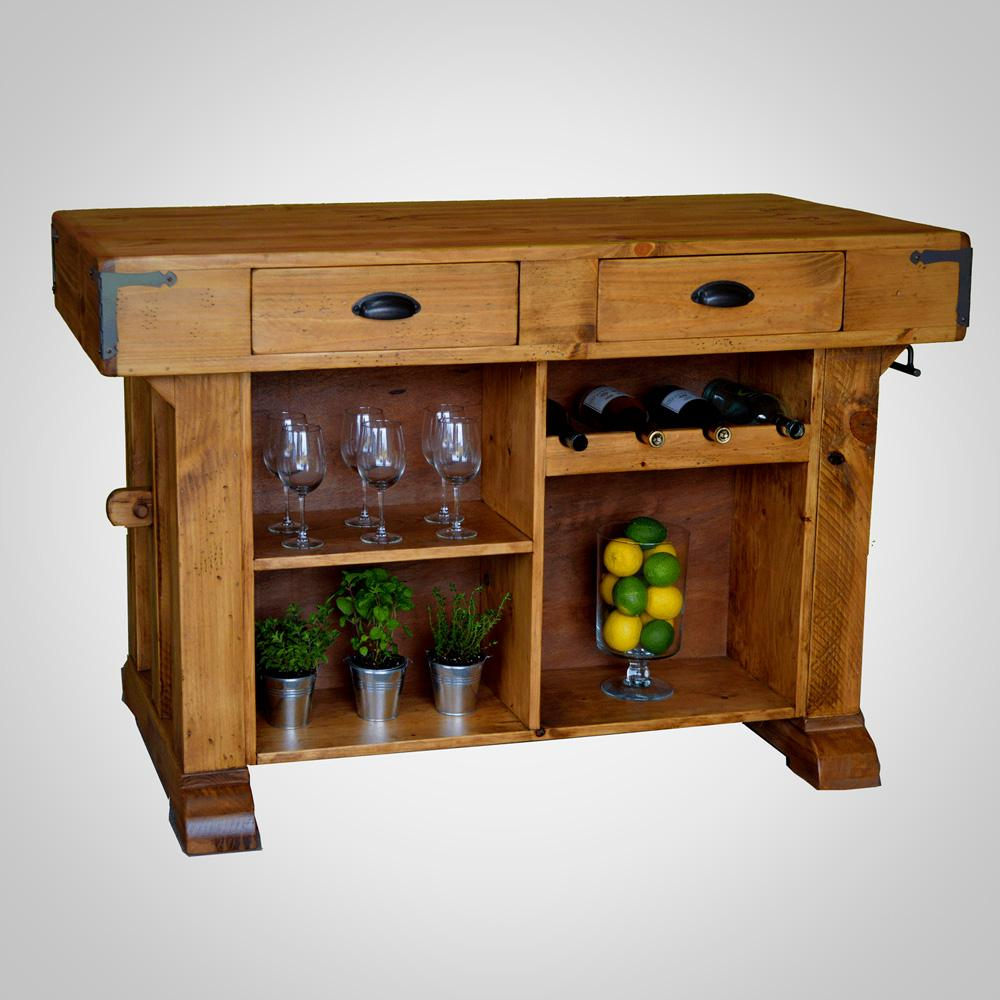Santa Maria Solid Pine Kitchen Island And Bench Show Off The Store
