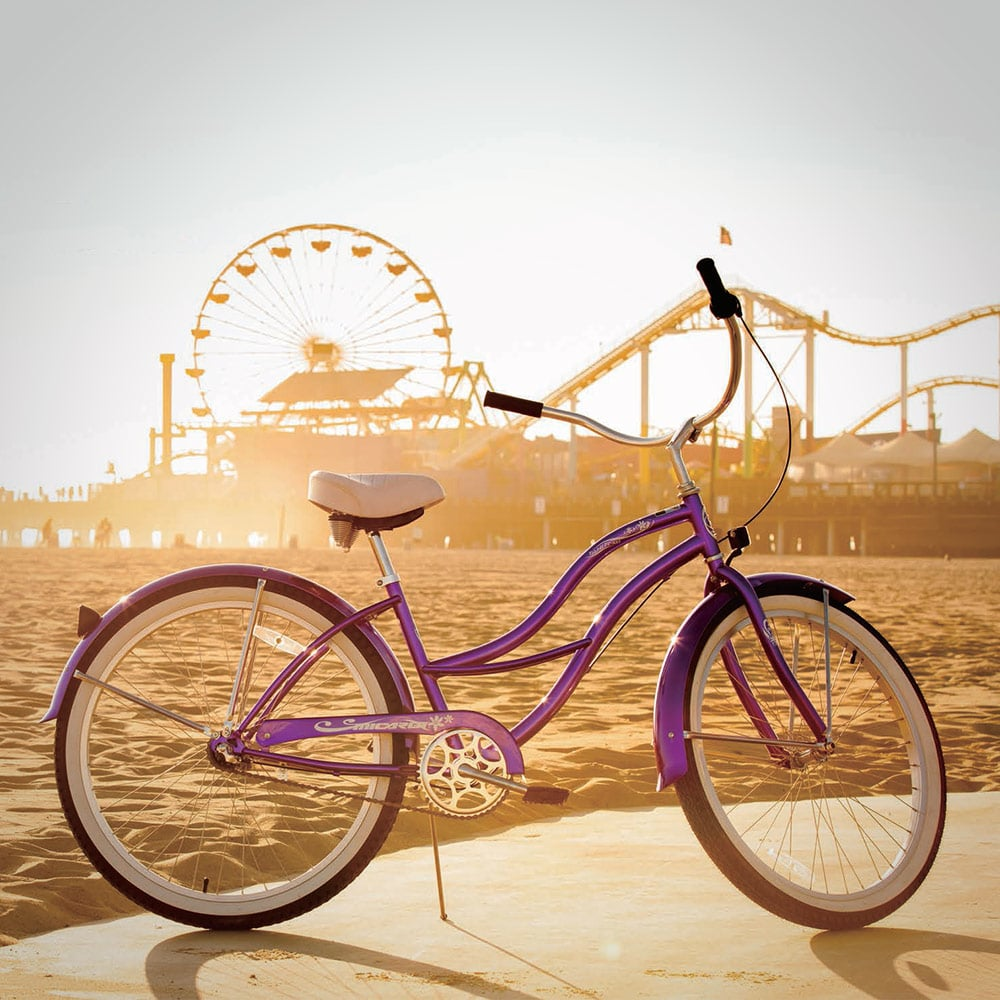 Womens Tahiti NX3 Beach Cruiser Bike in Purple