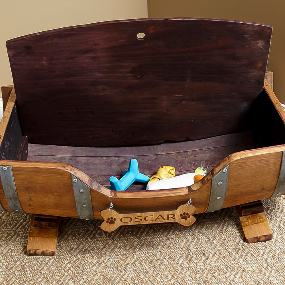 Home Goods Beds: Personalized Recycled Wine Barrel Pet Bed ⋆ Show Off, The